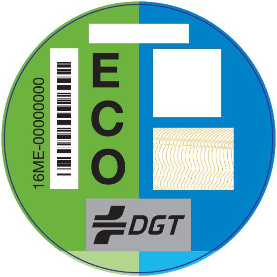 Distintivo medioambiental dgt  ECO