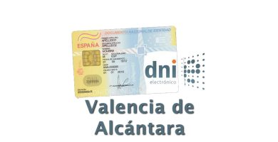 Cita DNI Valencia de Alcántara