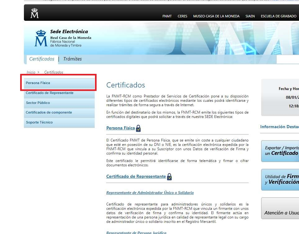 certificado digital 2a