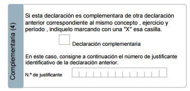 Cómo rellenar el modelo 115 declaraciones complementarias